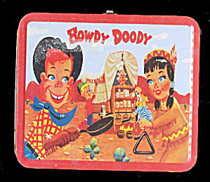 Hard To Find 1954 Adco Howdy Doody Metal Lunchbox