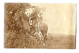 Real Photo Of Horse/soldier Ca 1907 Postcard