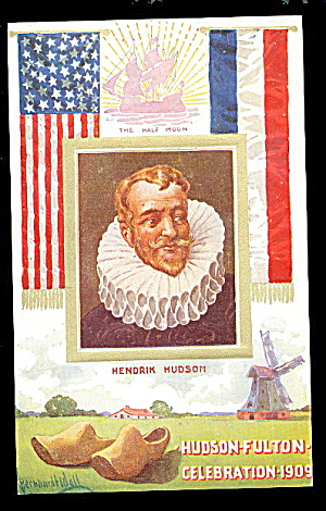 Patriotic Hudson-fulton Celebration 1907 Postcard