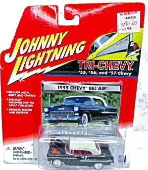 Johnny Lightning - '55 Chevy Bel Air On Card