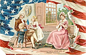 Tucks George Washington's Birthday 1907 Postcard (Image1)