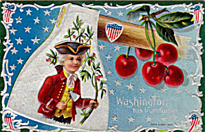 Winsch George Washington Patriotic 1908 Postcard (Image1)