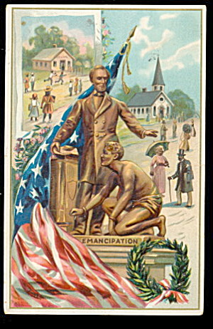Abe Lincoln Patriotic Tucks 1913 Postcard (Image1)