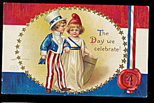 Ellen Clapsaddle July 4th Children 1907 Postcard (Image1)