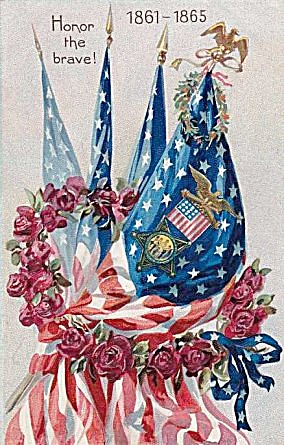 Honor the Brave 1861-1865 Decoration Day Postcard (Image1)