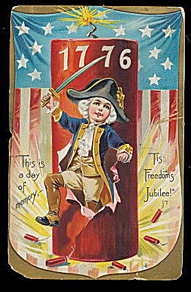 Memorial Day 1776 Boy Drummer 1907 Postcard (Image1)