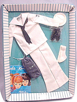 Mattel Ken 1963 #796 Navy Sailor Suit Mint In Box