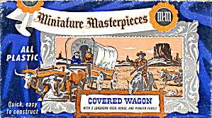 1954 Miniature Masterpieces Covered Wagon Model Kit