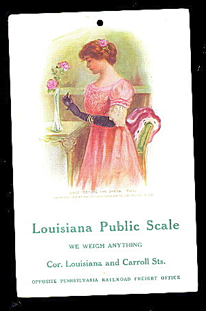 Louisiana Public Scale 1907 Advertising Postcard