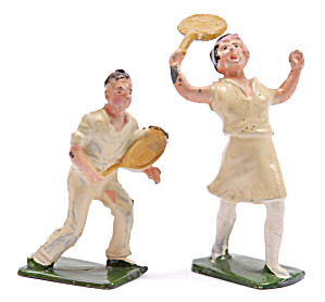 1920s Johillco Female & Male Tennis Players