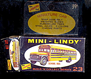 1968 Mini-lindy Lindberg School Bus Model Kit