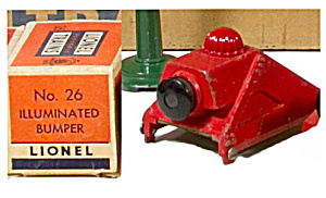 1940s Lionel 26 Illuminated Bumper In Original Box