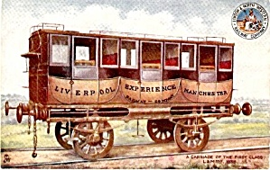 Tucks 1907 Liverpool  Manchester Coach Car Postcard (Image1)