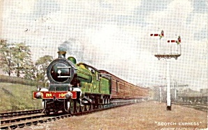 Tucks 'scotch Express' (Ner) Train Postcard