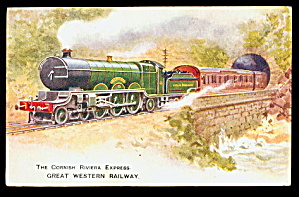 Tucks Cornish Riviera Express GWN Train Postcard (Image1)