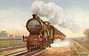 Tucks 'GNR Kings Crossing' Train 1907 Postcard (Image1)