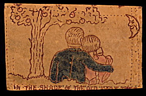 "1906 Leather 'in The Shade..."" Couple Postcard"