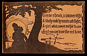 1906 Summer Poem Lovers Leather Postcard (Image1)