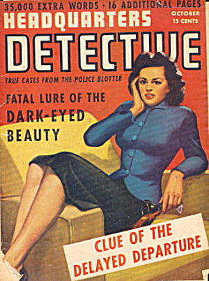 Oct 1943 Headquarter Detective Pulp Magazine (Image1)
