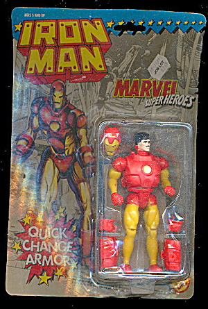 Iron Man W/ Quick Change Armor - Sealed Figure On Card