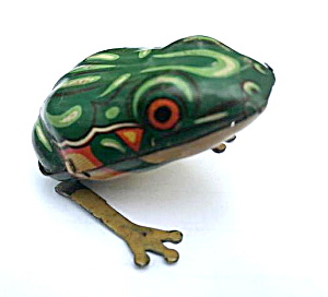 1930s Drgm Us Zone Germany Tin Windup Frog