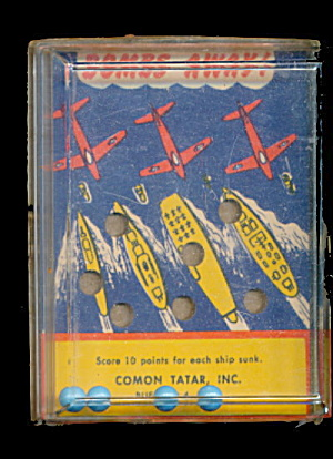 1960 Bombs Away Hand Held Palm/puzzle Game