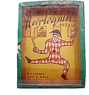1920s Harlequin Hand Held Palm/puzzle Game