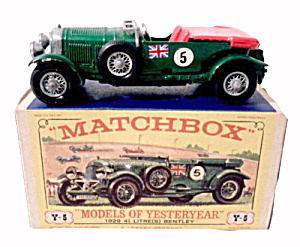 Matchbox Models Of Yesteryear Y-5 1939 Bentley