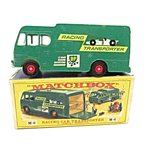M-6 Matchbox Racing Car Transporter Excellent In Box