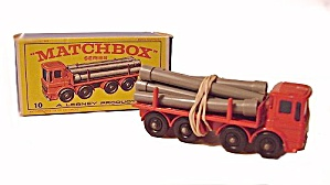1960s Matchbox #10 Pipe Truck Excellent In Box
