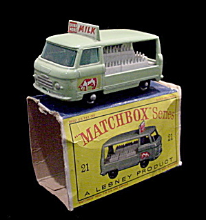 1960s Matchbox 21 Commer Milk Delivery Truck In Box