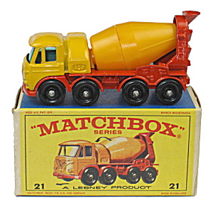 1960s Matchbox No 21 Foden Concrete In Box