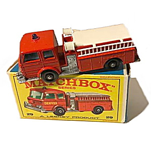 1960s Matchbox #29 Fire Pumper Truck Nmib