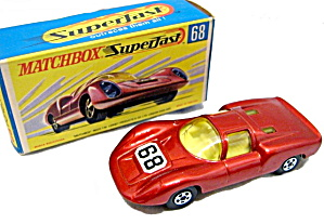 1970 Matchbox 68 Porsche 910 Car In Box