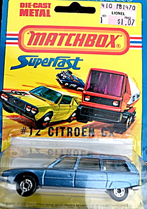 1979 Matchbox Superfast 12 Citroen Cx Car On Card