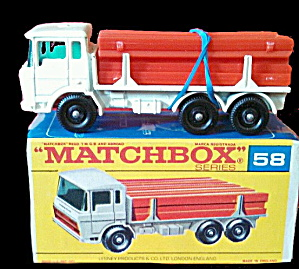 1960s Matchbox No 58 Girder Truck In Box