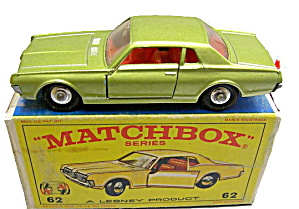 1960s Matchbox #62 Mercury Cougar In Box