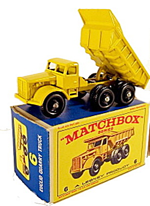 1960s Matchbox No 6 Euclid Quarry Truck in Box (Image1)