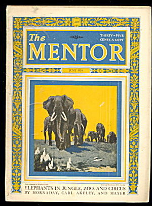 June 1924 'the Mentor' Elephants In Jungle' Magazine