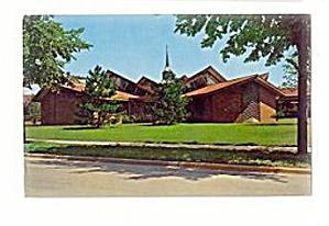 Midland, MI, St. John�s Lutheran Church 1950s Postcard (Image1)