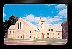 Niles, MI, 1st  United Brethren Church 1950s Postcard (Image1)