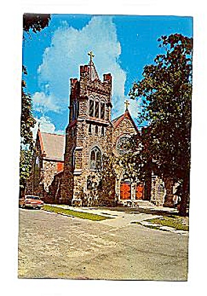 Lapeer, MI, Catholic Church 1950s Postcard (Image1)