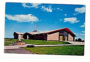 Oscoda MI, Sacred Heart Catholic Church 1950s Postcard (Image1)
