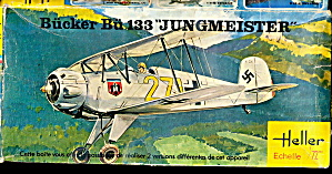Heller Bucker' Bu433 Jungmeister Fighter Model Kit