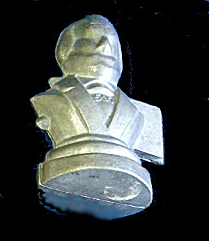 Old Metal Washington Bust Chocolate Candy Mold