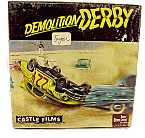 """Demolition Derby"" 8mm Movie Reel in Box (Image1)"