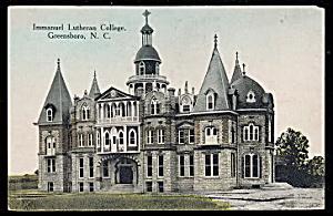 1907 Immanuel Lutheran College, Greensboro, NC Postcard (Image1)