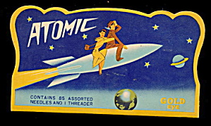 1940s Atomic Rocket Needle Book - Great