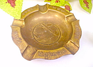 Brass 1939-1940 New York World's Fair Ashtray