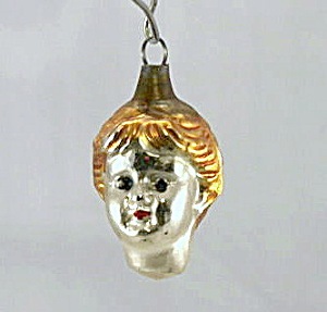 Early 1900s Childs Head (Boy) Christmas Ornament